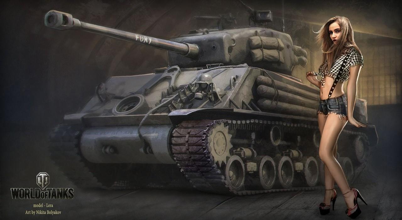 Обои на рабочий стол танки world of tanks девушки