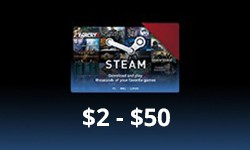 Random (2$ - 50$) Steam GIFT CARD