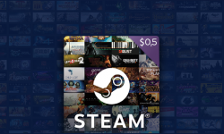 0,5$ Steam Gift Card