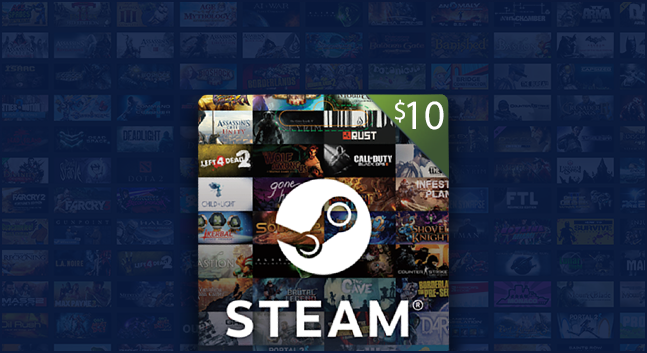 $10 Steam Gift Card - Gifts - Gamekit - MMO games, premium currency